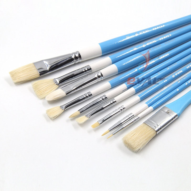 10 pcs Student oil painting gouache brush pig Bristles set multi-functional brush new styles watercolor travel set Art Supplies
