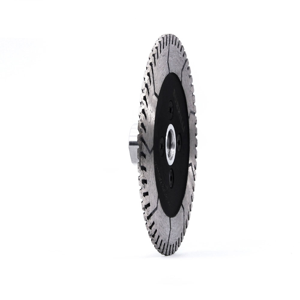 """4.5"""" Diamond Saw Blade Granite Marble Stone Grinding Cutting Disc with M14 5/8-11 Thread Turbo Dual Side Grinding Wheels 115mm"""