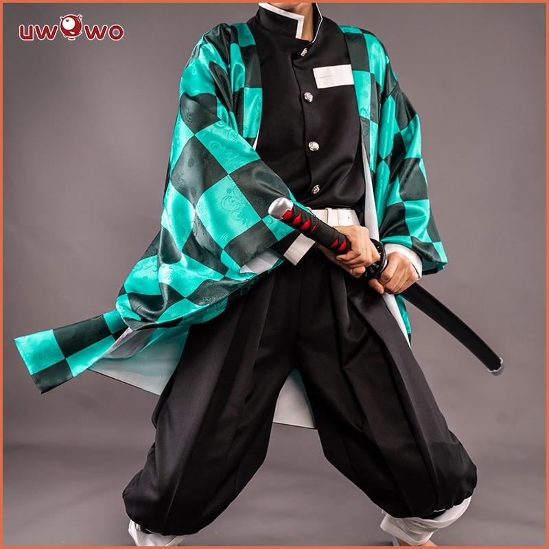 UWOWO تصميم جديد Tanjirou كامادو تأثيري أنيمي كيميتسو لا Yaiba شيطان القاتل زي Nezuko Zenitsu Tomioka Giyuu