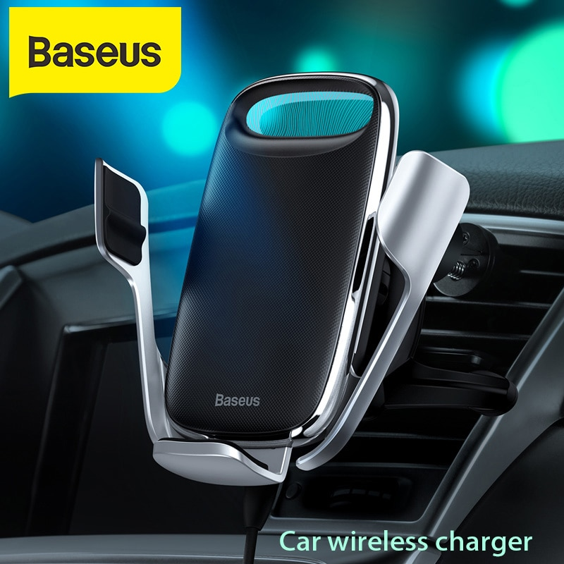Baseus 15 واط سيارة شاحن سريع تشى شاحن لاسلكي آيفون 11 سامسونج أندرويد Wirless شحن حامل هاتف السيارة سيارة حامل