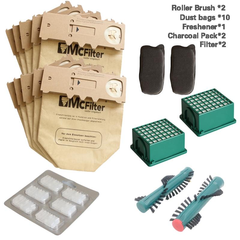 clean doll 16 pack vacuum cleaner dust bags cartridge filter charcoal filter for vorwerk kobold vk130 vk131 fp130 fp131 bags Roller Brush Hepa Filters Carbon Filters For VORWERK KOBOLD VK130 VK131 FP130 FP131 Vacuum Cleaner Spare Parts