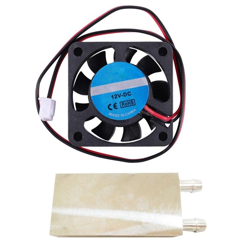 1 pces 40x80mm cpu bloco de resfriamento cpu radiador liga de alumínio trocador de calor bloco de resfriamento de água líquido dissipador de calor &