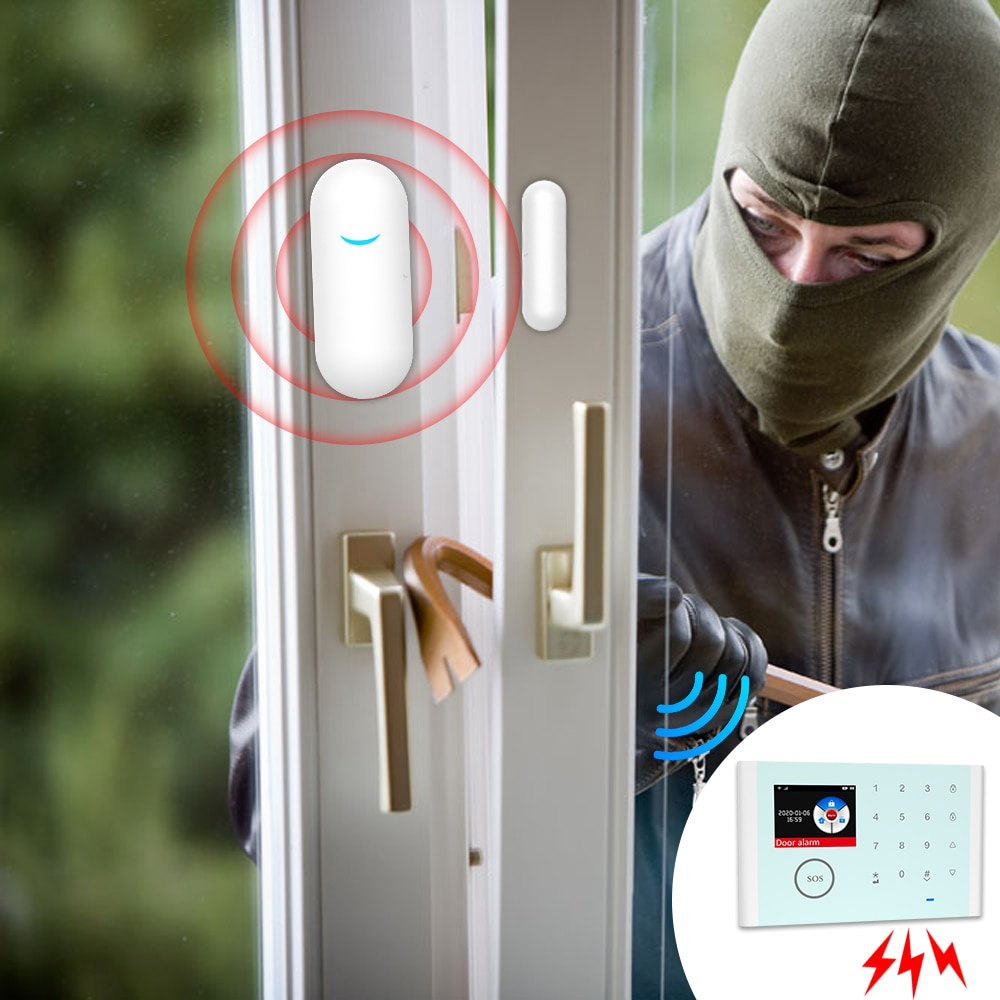 New 2020 Angus Home Security External Wifi Camera Siren Alarm System with Remote Control Intercom Door Opening Sensor For House enlarge