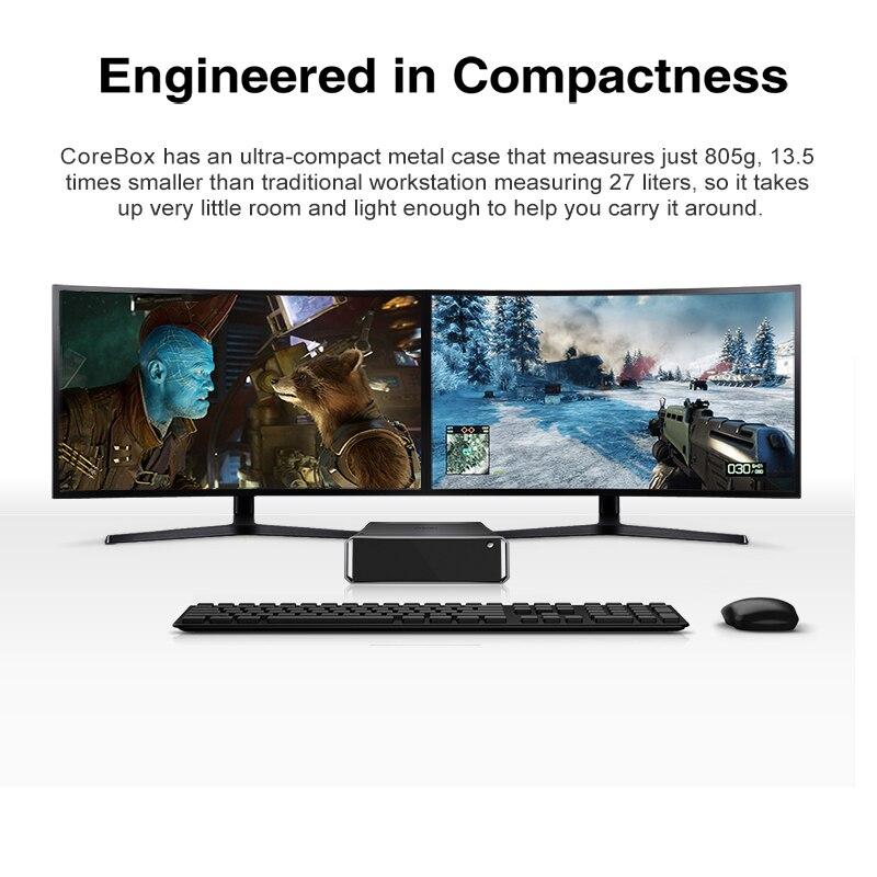 CHUWI Latest CoreBox intel Core i5 CPU mini Gaming Desktop pc 8G RAM 256G SSD Windows 10 Desktop Computer built-in WIFI Bluetoot