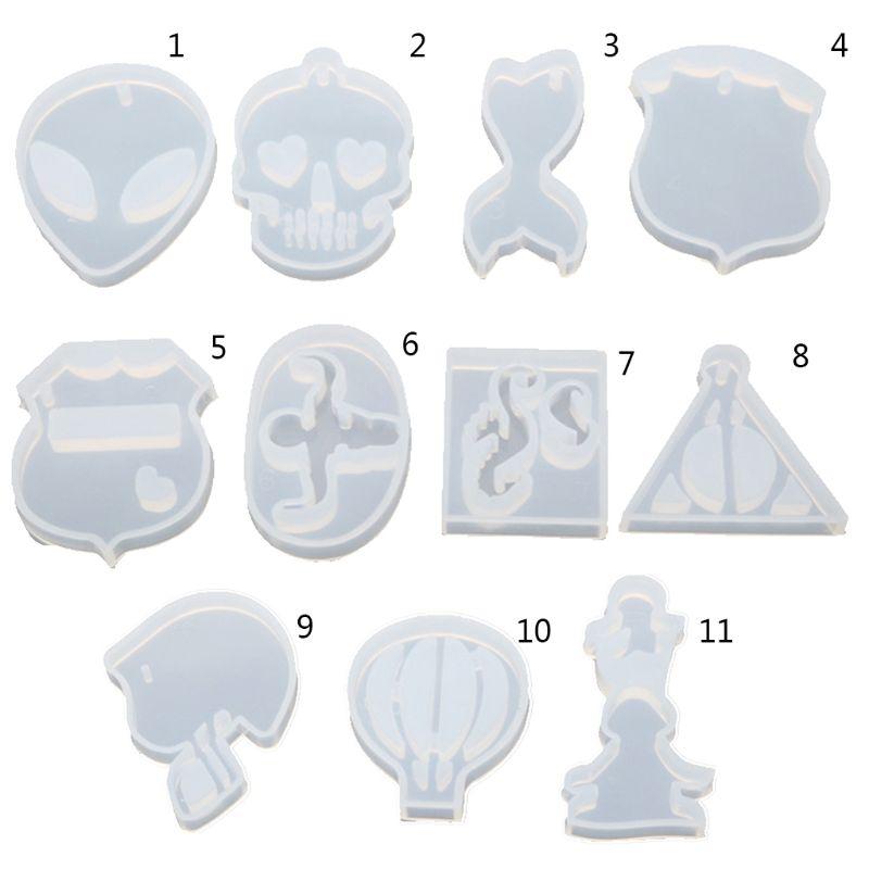 Moldes de silicona y resina para colgantes de cristal, resina epoxi DIY, globo de aire caliente de alta reflexión, moldes en forma de triángulo, accesorios de joyería para hacer ABALORIOS