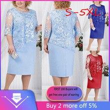 Duży rozmiar 5XL 6XL kobiety sukienka Plus rozmiar olśniewająca krótka sukienka Midi panie Party Dress vestidos de fiesta de noche szata femme sprzedaż