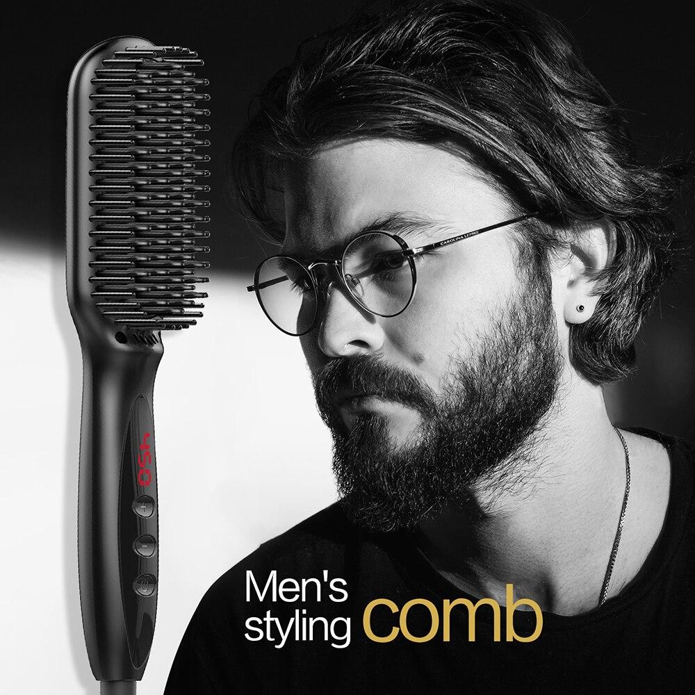 Flat Iron Comb for Beard Straightener Hair Straightener Irons Comb Salon Fast Heat Hair Styling Ceramic Hair Straightening Brush