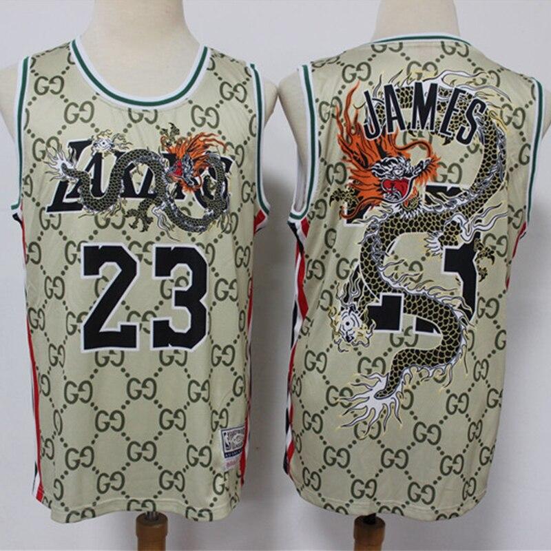 NBA hombres Los Angeles Lakers #23 Lebron James camisetas de baloncesto ciudad edición auténtico Swingman Jersey adulto cosido Jerseys