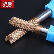 HUHAO CNC 6mm 8mm 10mm 12mm Grosseiro Moagem de Milho Cortador de Liga de Aço de Tungstênio Fresa De topo de Carbono bit Router para PCB Máquina de Gravura
