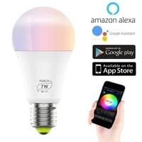 Ampoule intelligente WiFi E27 LED RGB   CW  lampe a intensite variable  pour maison intelligente  minuterie de controle a distance avec Alexa Google Home  7W