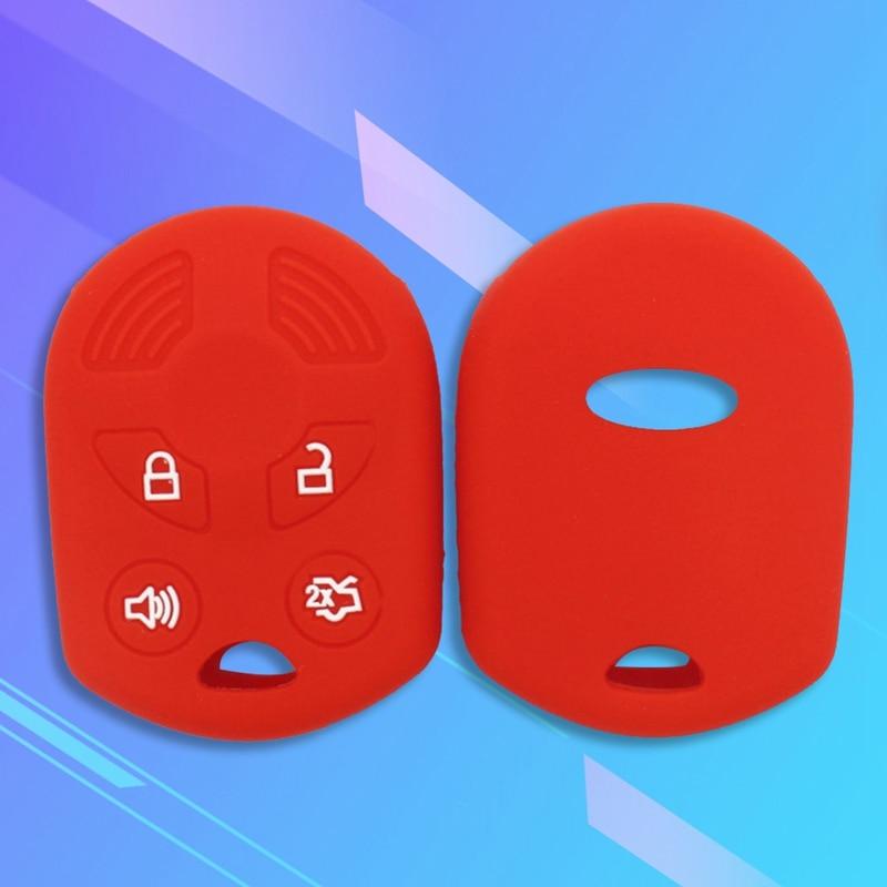 Funda de goma de silicona para llave de coche, Control remoto, funda de goma para llave de coche, conjunto de funda para FORD Remote Keyless Cover
