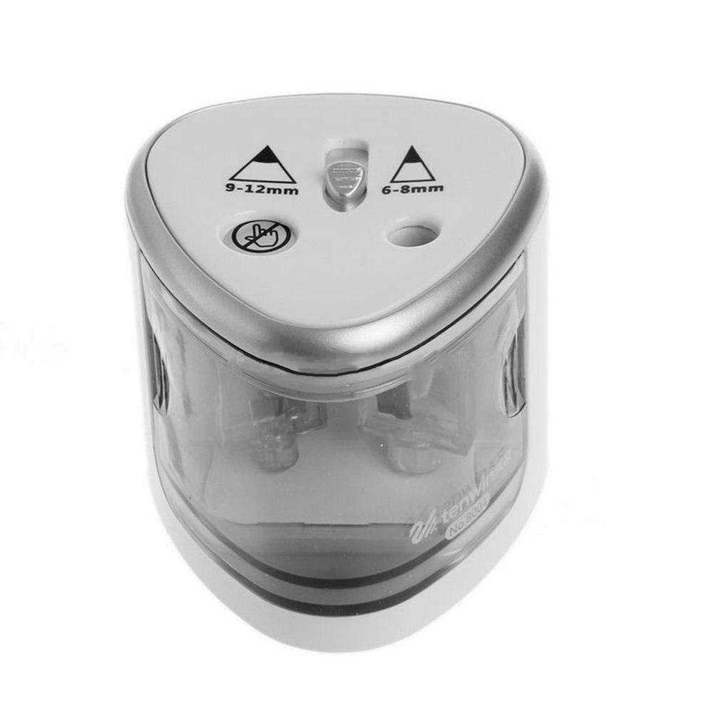 Студенческая электрическая точилка для карандашей с двумя отверстиями, автоматическая точилка для карандашей, точилка для карандашей с бе...
