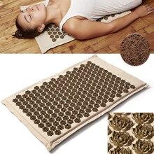 (Boutique maintenant) tapis dacupuncture en lin organique naturel Lotus Spike coussin de Massage coussin tapis de Yoga dos/cou/soulagement de la douleur thérapie 75*44cm
