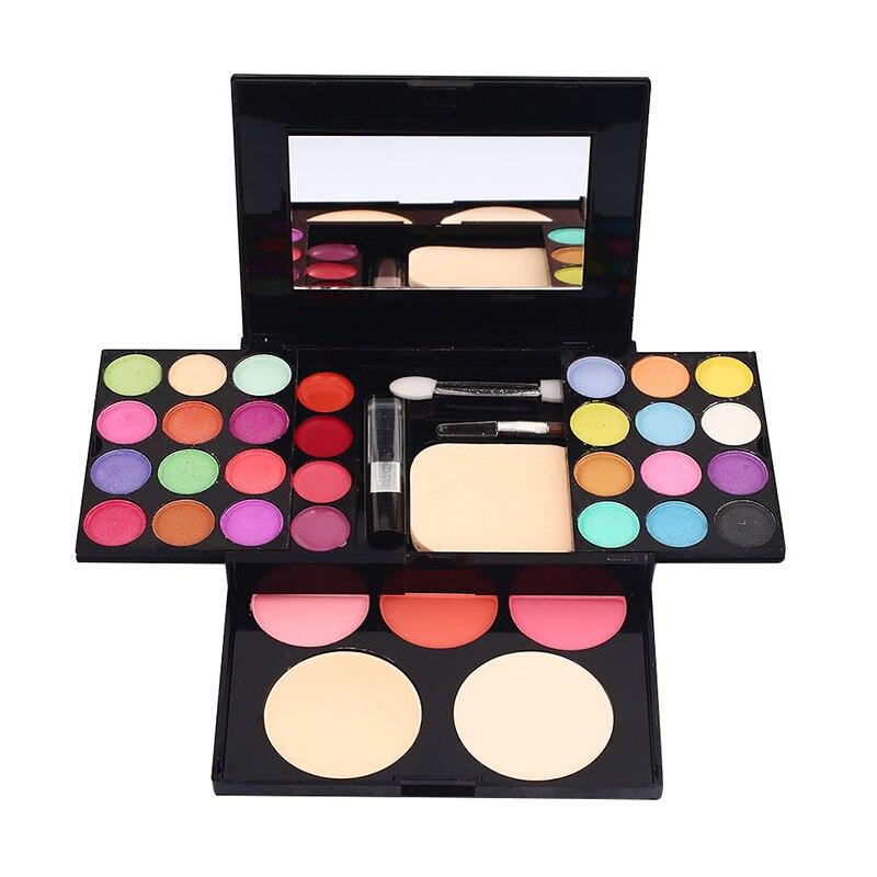 Conjunto de cosméticos de moda, kit de maquiagem de moda, estojo de vestidos, 24 peças, 3 peças, blush, batom em pó 4 placa com escova