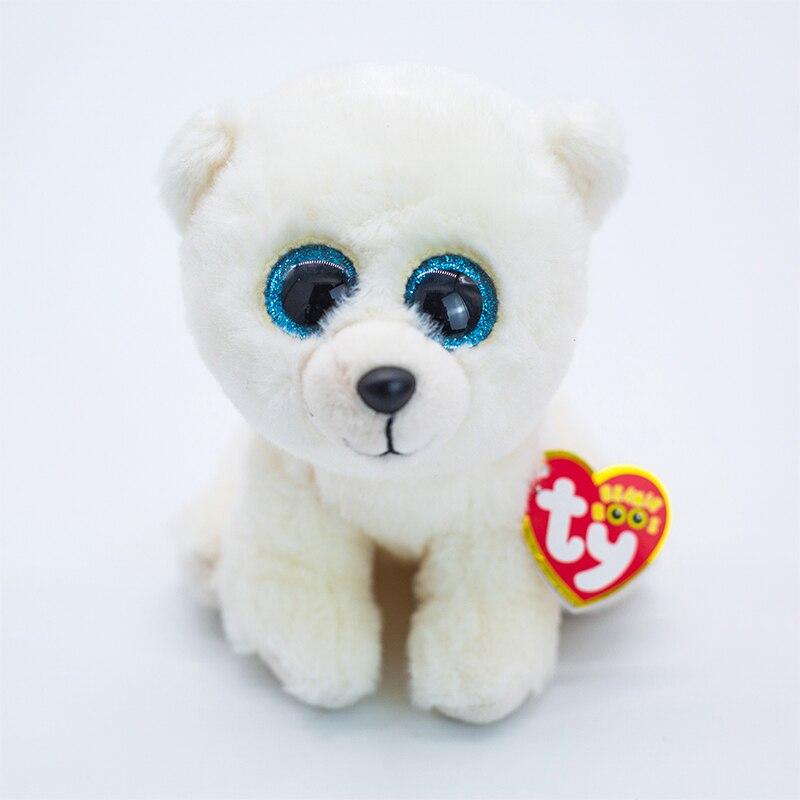 Новинка 6 дюймов 15 см Ty Beanie Aktic Мягкие плюшевые игрушки-животные кукла белый медведь коллекционные большие глаза мягкие игрушки подарок