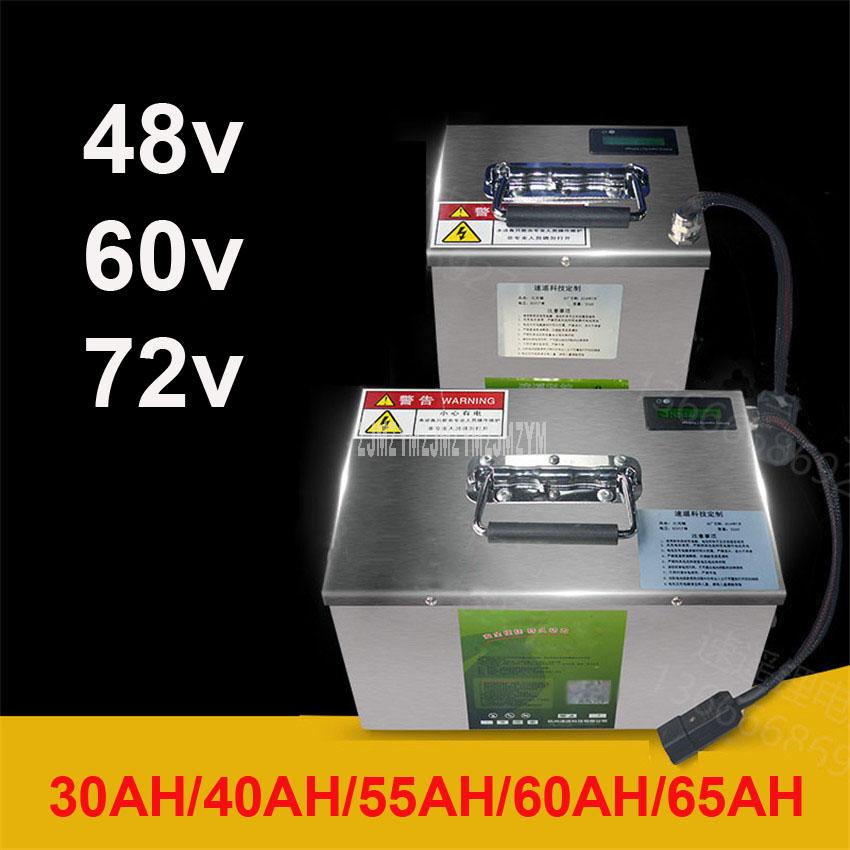 Batería de litio de 48V/60V/72V para vehículo eléctrico de dos/tres/cuatro ruedas, batería de bicicleta eléctrica 30AH/40AH/55AH/60AH/65AH