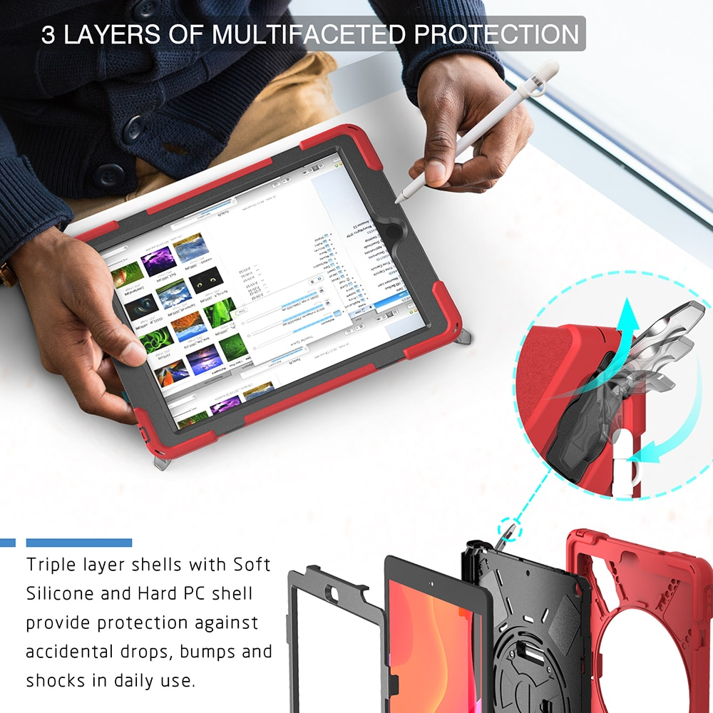 A2200 A2270 for Cover Kids A2429 10.2 A2198 Armor A2197 A2428 iPad Heavy Shokproof Case