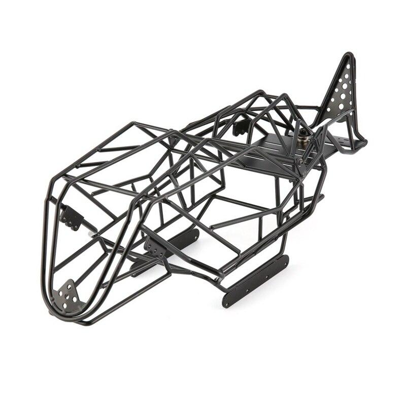 Marco del chasis de la jaula del rodillo de Metal negro para el chasis de la escala 90018 AX90018 1/10 AX90018 RC con el diseño perfecto RC parte