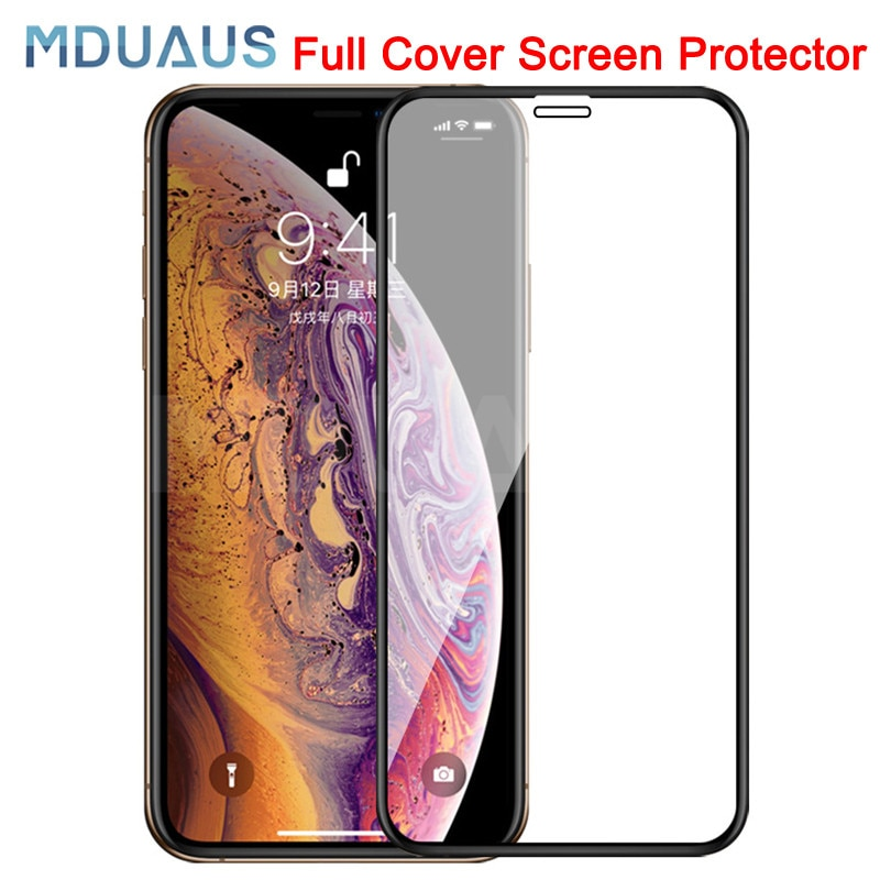 9D Protective Tempered Glass On The For iPhone 6 6s 7 8 Plus X 10 Glass Screen Protector Soft Edge C