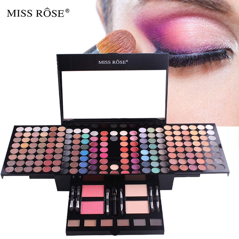 MISS ROSE 180 Color Makeup Palette Blush Eyeshadow Makeup Box Piano Box Eye Shadow Plate Cosmetic Box Cosmetic Gift for Women