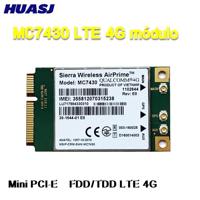 Huasj MC7430 LTE 4G módulo FDD-LTE TDD-LTE CAT6 HSPA + GNSS WWAN USB 3,0 MBIM interfaz de Tarjeta 4G