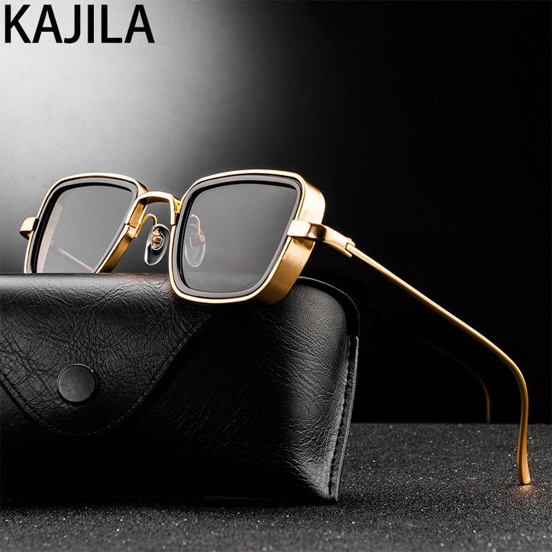 Vintage Steampunk Sunglasses Men 2020 Retro Metal Square Eyewear Trendy Brand Sun Glasses Shades For Women lunette de soleil