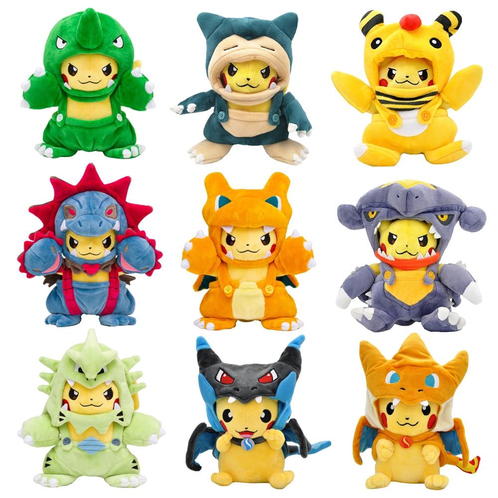 Cosplay Pikachued Stuffed Toy Kawaii Pokemoned Plush Doll Charizard Snorlax Tyranitar Eevee Lapras Latias Latios Peluche Gift