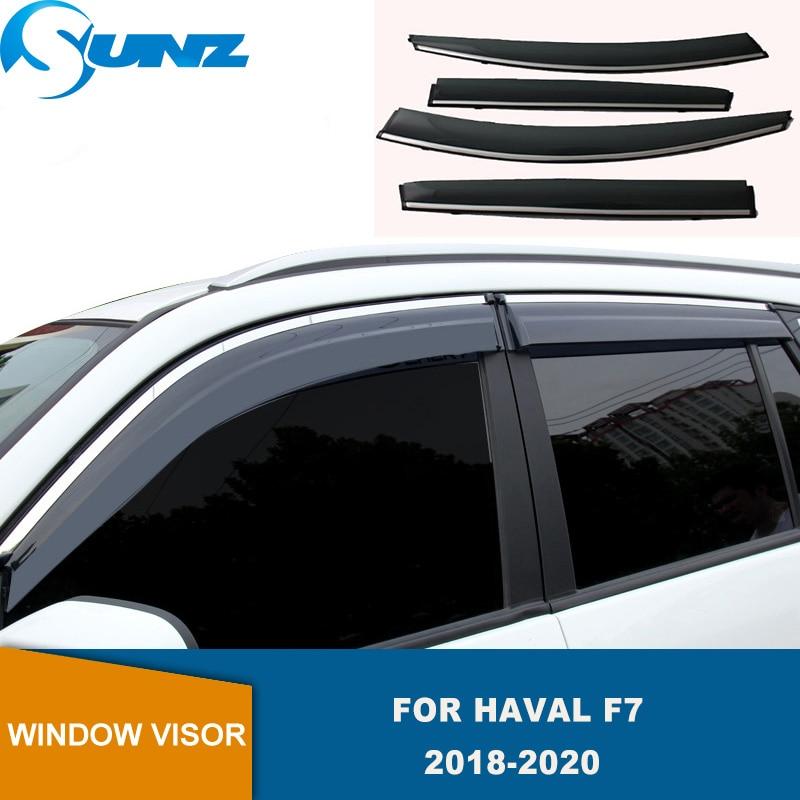 Side Window Deflectors For Haval F7 2018 2019 2020 Hook Up Smoke Sun Rain Deflector Window Visor Weather Shield SUNZ