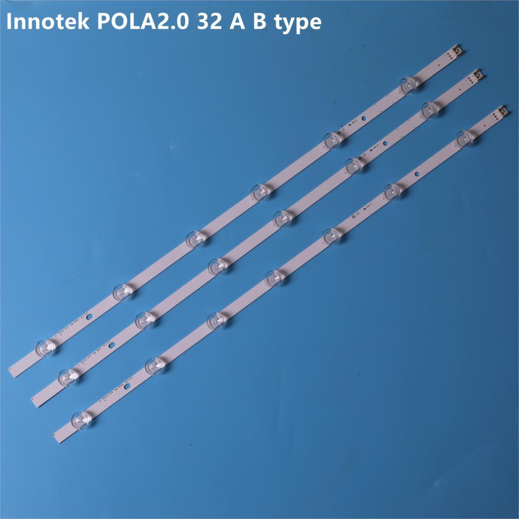 (Nuevo kit) 3 uds. De repuesto para LG 32LN5100, 32LN545B, Innotek POLA2.0, 32 pulgadas, tipo A, HC320DXN, 6/7 tira de LED para iluminación trasera, 590mm