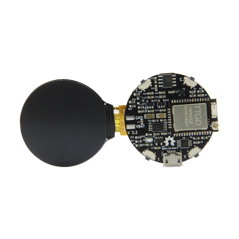 LILYGO®& بولس _ 3d_أشياء مفتوحة-ساعة ذكية T-Micro32 ESP32 واي فاي/بلوتوث لاردوينو