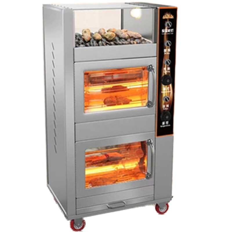 rotary microwave oven fully automatic 6 speed adjustable unified temperature control 20l low power consumption lightweight new 2.2KW Commercial Electric Oven Roasted Sweet Potato Machine Electro Thermal Fully Automatic Grilled Corn Sweet Potato Stove 20L