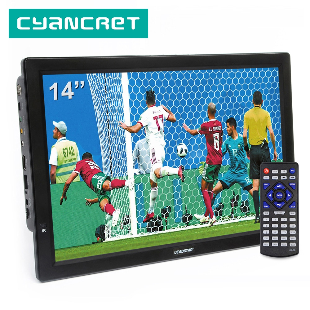 LEADSTAR D14 14 pulgadas HD portátil TV DVB-T2 ATSC Digital analógica televisión Mini coche pequeño TV soporte MP4 AC3 HDMI Monitor para PS4