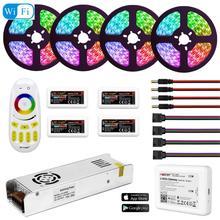 5050 bande de WIFI LED de lumière de RGBW RGBWW rvb Mi imperméable 5M 10M 15M 20M cc 12V lumière LED 60led/m avec la puissance de télécommande de RF