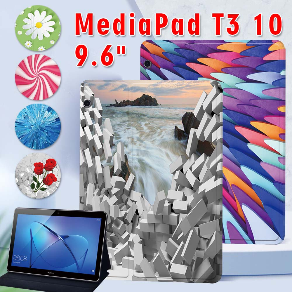 pu leather case for prestigio multipad grace 3201 pmt3201 4g d 10 1 inch tablet folio stand case flim touch pen PU Leather Tablet Stand Folio Cover for Huawei MediaPad T3 10 9.6 Shockproof Tablet Case