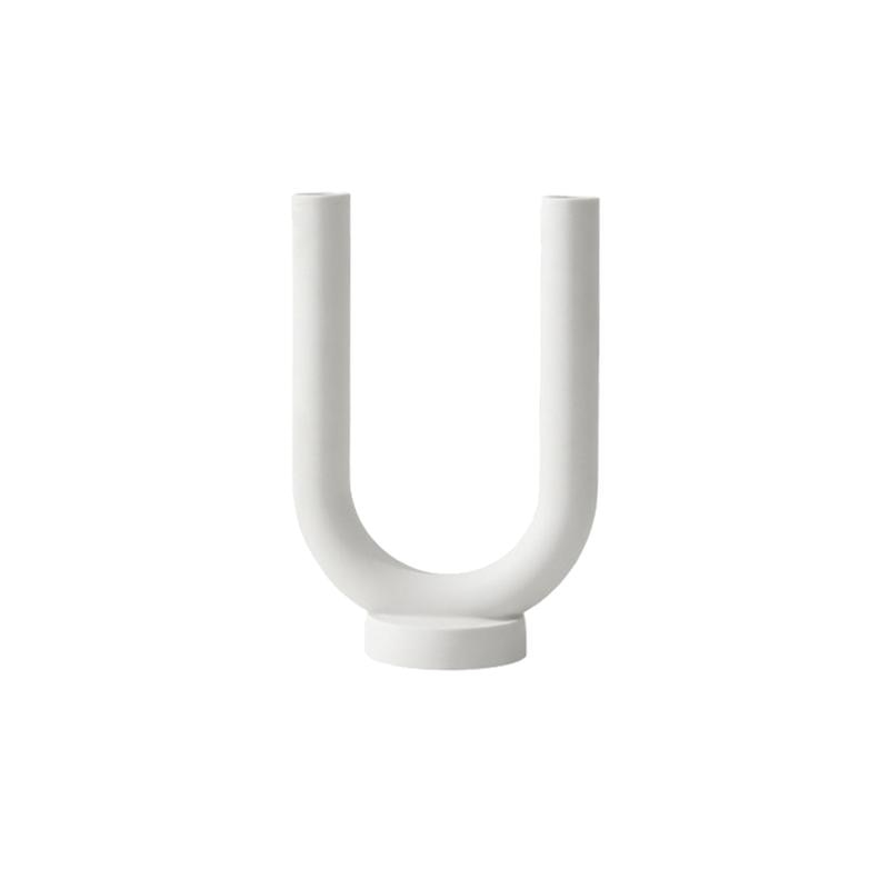 Soporte para velas de cerámica minimalista, soporte para velas, soporte creativo para velas, soporte para velas, decoración de escritorio, blanco