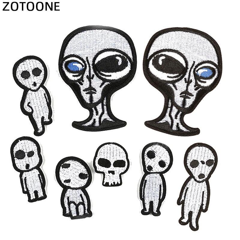 ZOTOONE UFO Alien Rocket Stranger Things parches de hierro para ropa Punk parches bordados en ropa DIY apliques de parche G