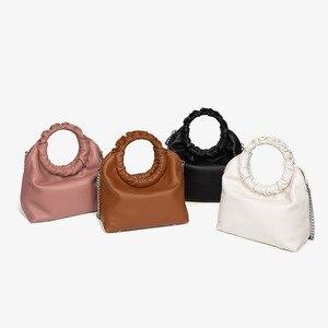 2021 New Arrivals Women's Shoulder Bags Hard PU Leather Solid Female Design Versatile Women Hobos Bags