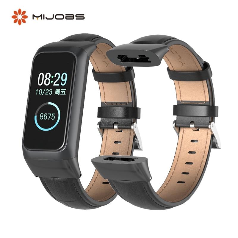 Mijobs Für Xiaomi Amazfit Cor 2 lederband Für Huami Amazift Cor 2 Smart uhr Armband Sport Atmungsaktive Armband frauen männer