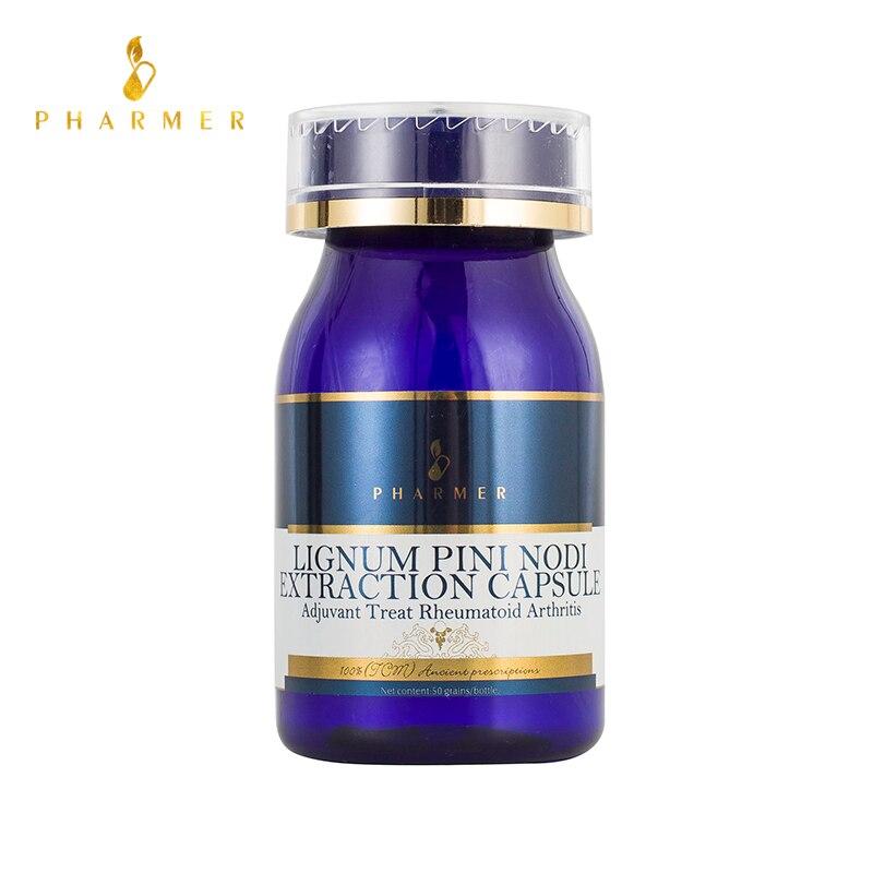 Pharmer Lignum Pini Nodi капсула экстракции, адъювант лечения ревматоидного артрита, лечения системная боль суставов или мышц, 50 шт