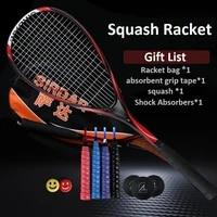 squash racket full carbon fiber ultra light starter suit professional training full set of accessories men women with bag 40