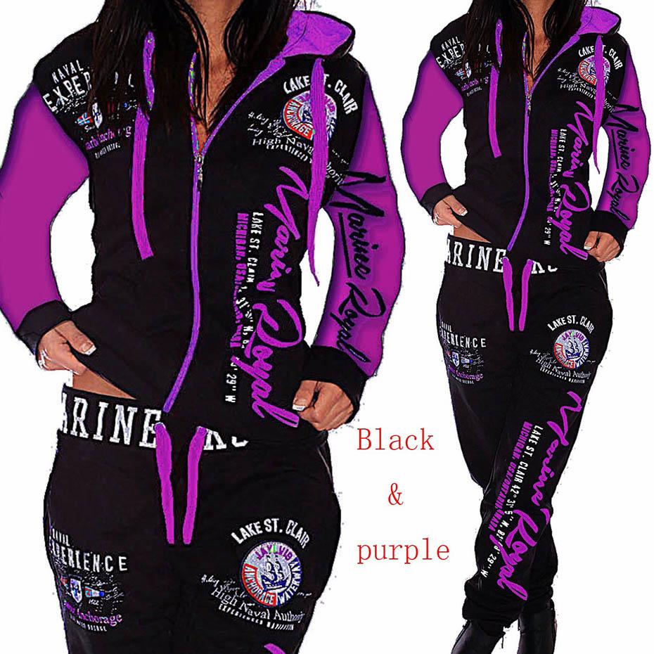 ZOGAA 2021 Women 2PCS Sportwear Autumn Winter Female Suit Fashion Hooded Joggers Women's Sports Suit Sets Womens Tracksuit Set