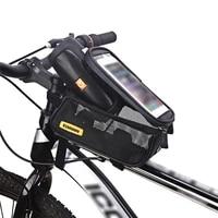 bicycle bag mtb bike handlebar front top tube bag mobile phone case packet pouch cover bags bicycle waterproof tube bag