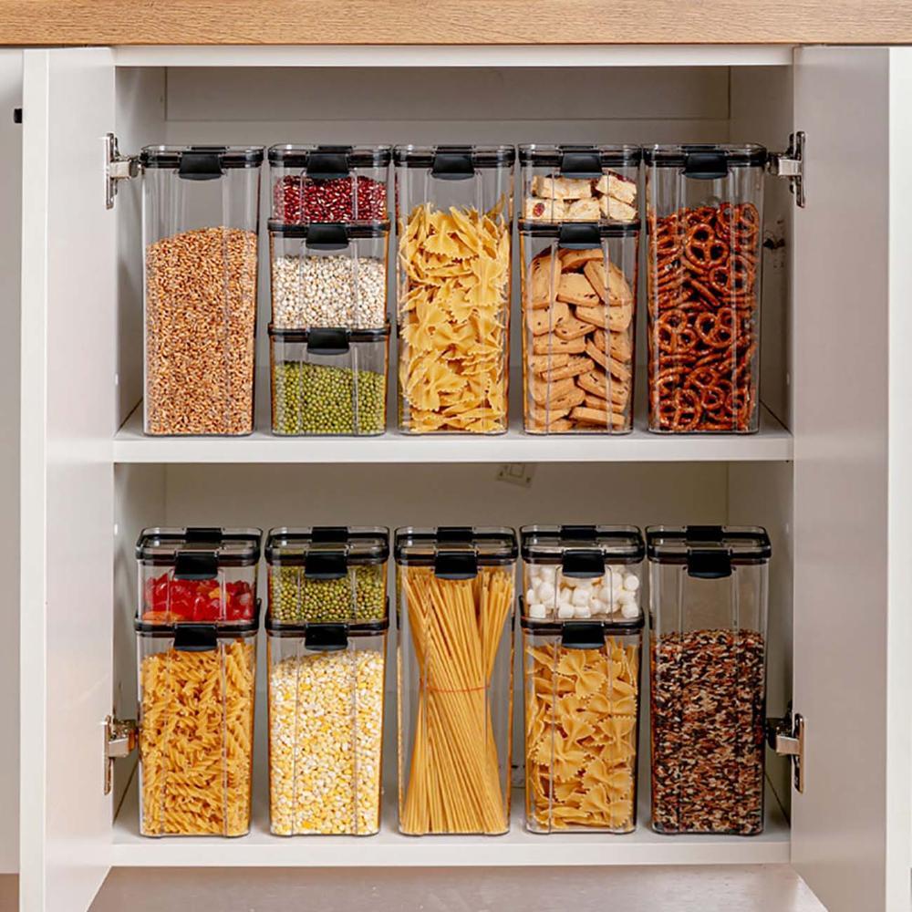 aliexpress - 700/1300/1800ML Food Storage Container Plastic Kitchen Refrigerator Noodle Box Multigrain Storage Tank Transparent Sealed Cans