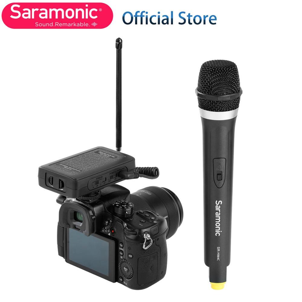 Saramonic SR-WM4CA inalámbrico Sistema de micrófono de mano para Canon Nikon Sony DSLR Cámara cámara de Video de Youtube Livestream