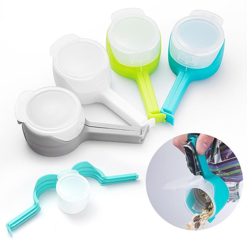 1Pc Seal Giet Plastic Opbergtas Clip Voedsel Afdichting Clip Effect Klem Met Grote Ontlading Nozzle Voor Opslag Voedsel keuken Gereedschap