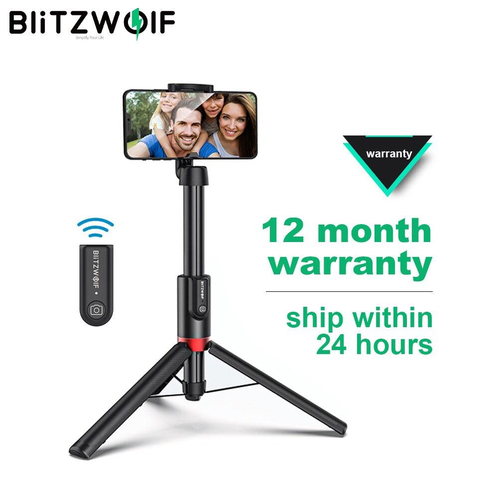 Blitzwolf BW-BS10 زائد طوي ترايبود Monopod Selfie عصا 1300 مللي متر طول حامل أحادي القوائم قابل للتمديد سماعة لاسلكية تعمل بالبلوتوث Selfie عصا