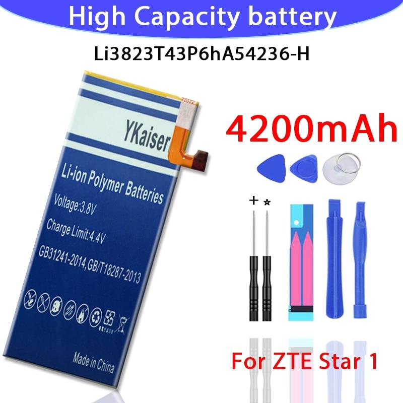 Новый 4200 мА/ч LI3823T43P6hA54236 H Батарея для ZTE Nubia Z7 мини NX507J лезвие S6 5 0 дюймов G717C G718C Batteria