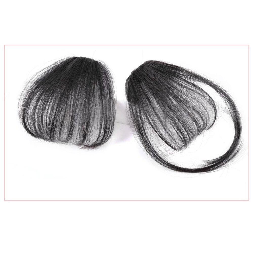 Extensiones de Cabello Salonchat Remy postizas largas, flequillo Romo, extensiones de cabello falsas, flequillo 100% cabello Real, postizas naturales para mujer