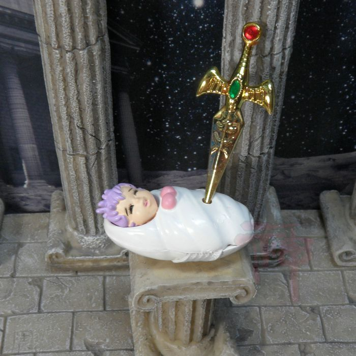 Hongkong Produkt Saint seiya Serie Abbildung Mythos Athena Baby Luxus Set Mit Papst Schwert Korb Aiolos Sammlerstücke Spielzeug