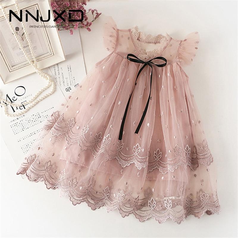 Girls Lace Dress New Floral Kids Dresses For Girls Princess Dress Children Clothes Girls Dress Casua